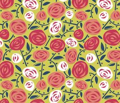 Rose Garden fabric by acbeilke on Spoonflower - custom fabric