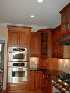 Again another view, notice everything is beautifully encased and has some amazing hardware.  Custom built by Dixon Custom Cabinetry in Kernersville, NC