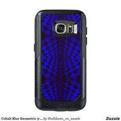 Cobalt Blue Geometric 3-D Checkerboard Pattern OtterBox Samsung Galaxy S7 Case