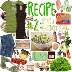 Grilled Chicken SALAD~, created by the-polyvore-cookbook