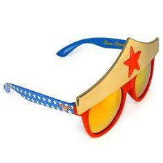 Wonder Woman Headband Sunglasses - 344388 | trendyhalloween.com