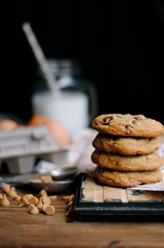 Chocolate Chip, Peanut Butter, and Walnut Cookies by How To: Simplify, via Flickr