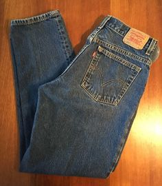Levi's Womens Sz 14M (32x31) 550 Classic Relaxed Fit Tapered Leg Denim Jeans  #Levis…