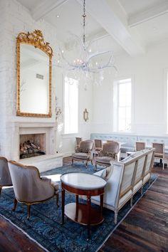 Washington School House Hotel : Utah : Great carpet, furniture, floors, chandelier, mirror...