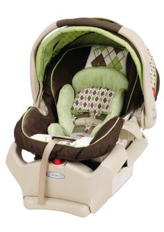Green Diamond Baby Boy Car-Seat!