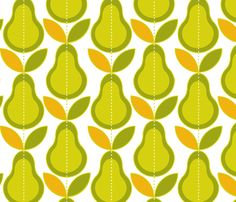 What a Pear! fabric by snowflower on Spoonflower - custom fabric