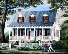 Cottage Elevation of Plan 57063