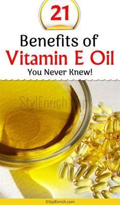 Vitamin E Oil Benefits