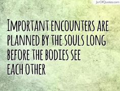 Important encounters are planned by the souls long before the bodies see each other  #quotes #love #sayings #inspirational #motivational #words #quoteoftheday #positive
