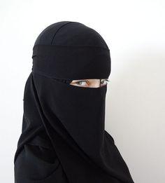 1x Women's Face Veil Niqab Nikab Islamic Clothing BLACK