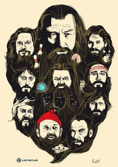 See a Poster Featuring Famous Beards in Film -- Vulture