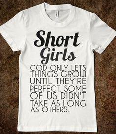 Hahahahahaha Love it! For my shorter friends,