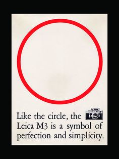 Advertisement for Leica, Design by Peter Seitz, photo by Ryan Gerald Point dans la pub. Vintage Advertisements, Vintage Ads, Vintage Trends, Vintage Graphic, Typography Design, Lettering, Posters Vintage, Typographic Poster, Poster Ads