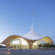 The undulating fiberglass roof of the Centre Pompidou-Metz in Metz, France, 2010 by Shigeru Ban. Shigeru Ban, Canopy Bedroom, Diy Canopy, Canopy Tent, Nursery Rugs, Backyard Canopy, Garden Canopy, Canopy Outdoor, Tent
