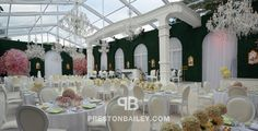 Crystal chandeliers green hedges white and pink roses cherry blossom trees elegant ambiance Hotel du Cap South of France.