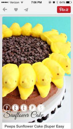 Sunflower peeps cake