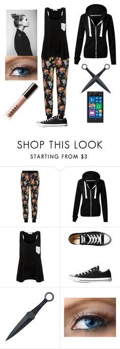 """""""Untitled #451"""" by softballjrm ❤ liked on Polyvore featuring Markus Lupfer, Solid & Striped, Converse, Nokia and LORAC"""