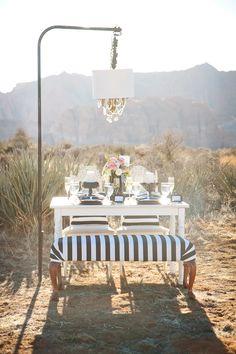 Black and White Desert Wedding Ideas | Photography: AK Studio Design / Design & Planning: Middle Aisle