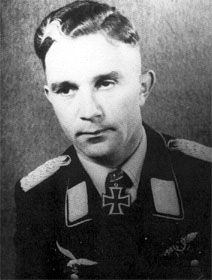 Günther Specht (13 November 1914 – 1 January 1945) was a Luftwaffe ace and recipient of the Knight's Cross of the Iron Cross during WWII. In 1939 he was wounded and blinded in one eye. In 1944 he was appointed Geschwaderkommodore of JG 11. In 1945 he was listed as missing in action during Operation Bodenplatte. Specht was considered as one of the best fighter leaders during the war, credited with 34 aerial victories, which included 15 Viermots, all achieved over the Western Front.