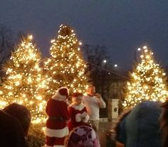 Cuyahoga Falls, OH Tree Lighting with Mayor Don Walters Nov. 2015.