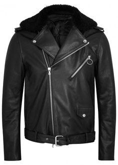 Acne Studios http://www.harveynichols.com/brand/acne/mens/166015-araki-shearling-trimmed-leather-biker-jacket/p2757732/
