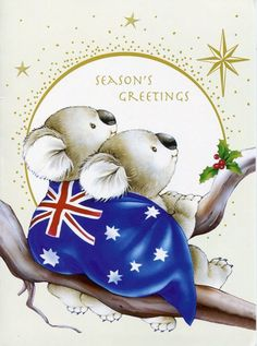 "A Merry and Blessed ""Aussie"" Christmas to you from across the ocean! Australian Christmas Cards, Aussie Christmas, Summer Christmas, Christmas Wishes, Christmas Crafts, Christmas Decorations, Christmas Quotes, Christmas Images, All Things Christmas"