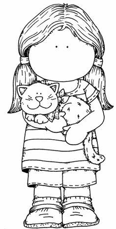 Tilda with cat.