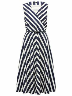 Nautical striped prom dress