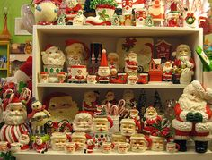 """Whoa-ho-ho! Santa collection. (pinned from """"into vintage"""", their captions are a riot)"""