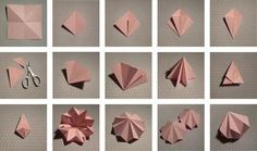 Origami geometric shapes diy paper diamond 31 Ideas for 2019 Instruções Origami, Origami Paper Art, Origami Fish, Useful Origami, Origami Design, Diy Paper, Paper Crafting, Origami Dragon, Kirigami