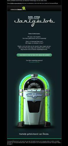 """Skoda - Leuk cadeau: een """"non-stop jarige Job"""" jukebox Non Stop, Jukebox"""