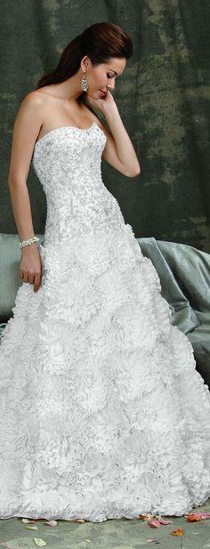 ruffles wedding dress