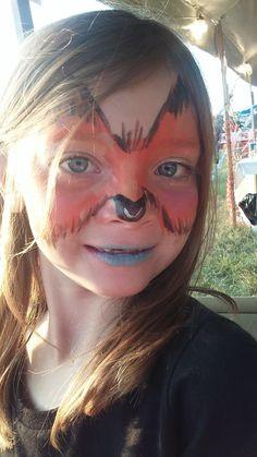 #foxfacepaint #zoofacepaint #candycanefestivalfacepaint #funfacesballooncreationsfacepaint Fox Face Paint, Candy Cane, Carnival, Painting, Barley Sugar, Painting Art, Paintings, Carnival Holiday, Drawings