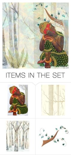 """sitting buddha sleeps"" by jazzy ❤ liked on Polyvore featuring art"