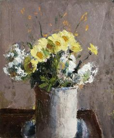 "Roderic O'Conor, ""Flowers in a White Mug"" Irish Painters, Yellow Flowers, Cut Flowers, Still Life Drawing, Post Impressionism, Watercolor Flowers, Flower Art, Artsy, Art Nature"