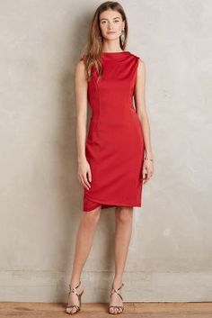 Drape-Back Sheath - anthropologie.com