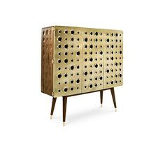 Monocles Cabinet | Essential Home Mid Century Furniture | Bar Cabinet. Furniture Design. Living Room Ideas. #barcabinet #cabinet #livingroomideas Find more: http://essentialhome.eu/products/casegoods/monocles-cabinet