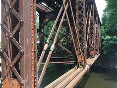 RR Bridge  Deck Truss over the Blackstone River in Blackstone MA
