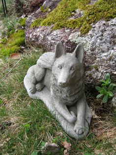 German Shepherd Statue Dog Angel Pet by WestWindHomeGarden on Etsy, $39.95