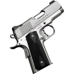 Kimber Stainless Ultra Carry II in 9 mm. Fired one of these at the range last weekend and really liked it! Trigger felt very light and crisp, with a super-short reset. A bit heavy for concealed carry IMO.