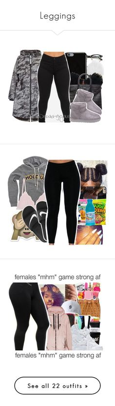 """""""Leggings"""" by uniquee-beauty ❤ liked on Polyvore featuring Michael Kors, Givenchy, Yves Saint Laurent, Topshop, UGG, Cosabella, NIKE, FAY, Dr. Martens and Charlotte Russe"""