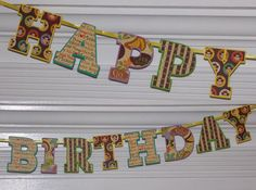 Happy Birthday Monkey Letter Banner  Jungle  by APaperPlayground, $10.00