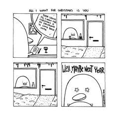 Pena The Unholy - Comics - Cute Penguins - Dark Art Illustrations - Horror - Dark Humor Dark Art Illustrations, Illustration Art, Cute Penguins, Comic Art, Drama, Humor, Comics, Christmas, Xmas