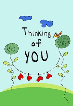 """""""Thinking of you"""" printable card. Customize, add text and photos. print for free!"""