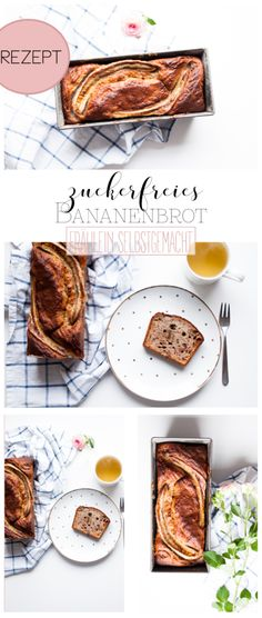 ZUCKERFREIES BANANENBROT MIT DATTELN Sugar Free, Brunch, Low Carb, Healthy Recipes, Healthy Food, Sweets, Super, Breakfast, Ethnic Recipes