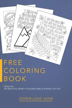 Browse the cover options of the new NIV Beautiful Word Bible, Updated Edition - including the bestselling floral cloth hardcover! Bible Coloring Pages, Printable Coloring Pages, Coloring Books, Beautiful Word Bible, Bible Activities, Sunday School Crafts, Bible For Kids, Kids Church, Free Coloring