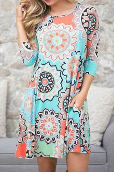 Poppoly Good To You Print Casual Mini Dress(Non Positioning Printing)