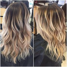 had the pleasure of doing this rooted dimensional blonde today  doing blondes like this makes me want to go blonde  #michaelkelleysalon #venturahair #hairbynickylove #fluidhairpainting #balayage