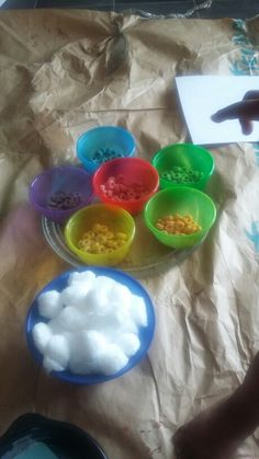 The day we made rainbows with cotton balls and fruit loops