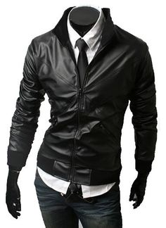 Stylish men's leather jacket